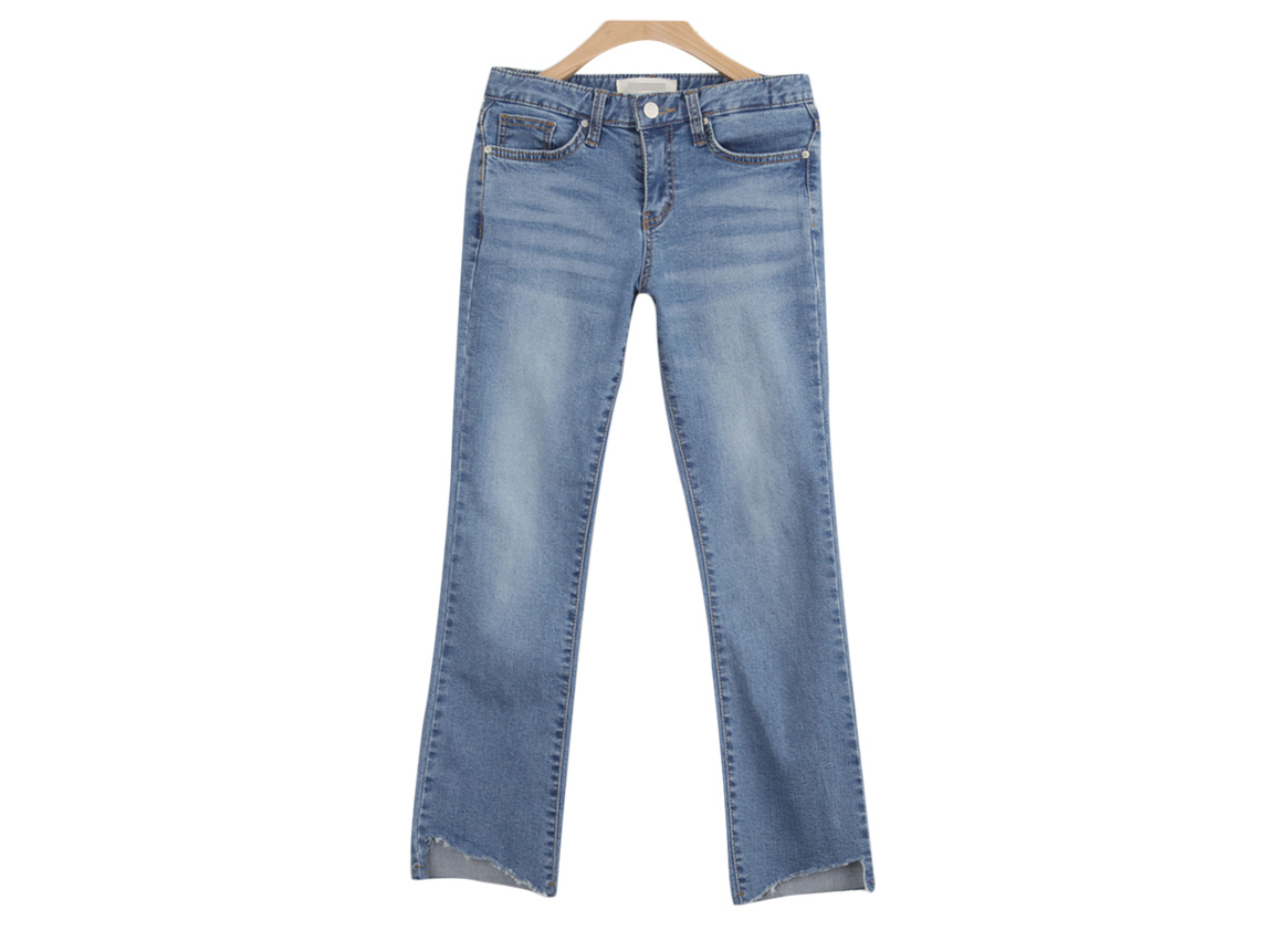20% off> Unlined leg straight jeans -5329