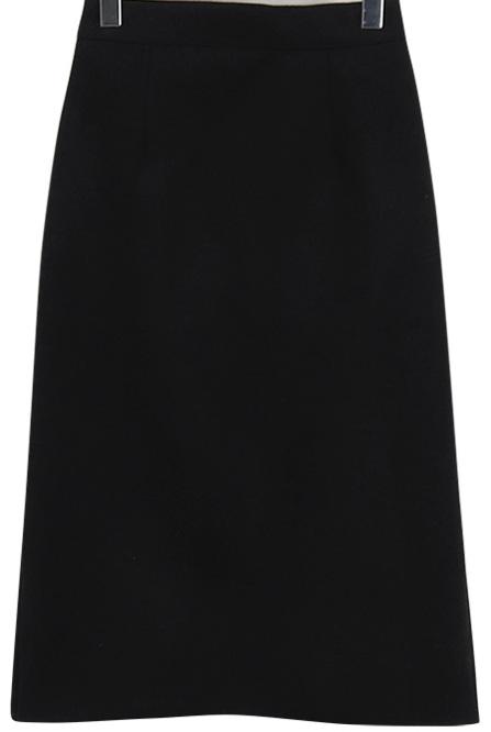 Felt banding midi skirt_S (size : free)