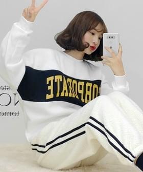 韓國空運 - Color corporate Sweatshirt 長袖上衣