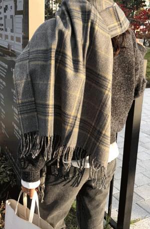 韓國空運 - Kingston-check shawl & muffler 配飾