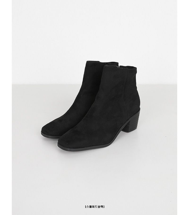 square hoop ankle boots (3colors)