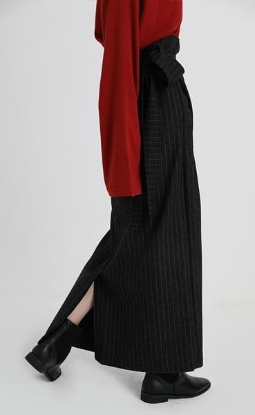 free strap wool skirt (3colors)
