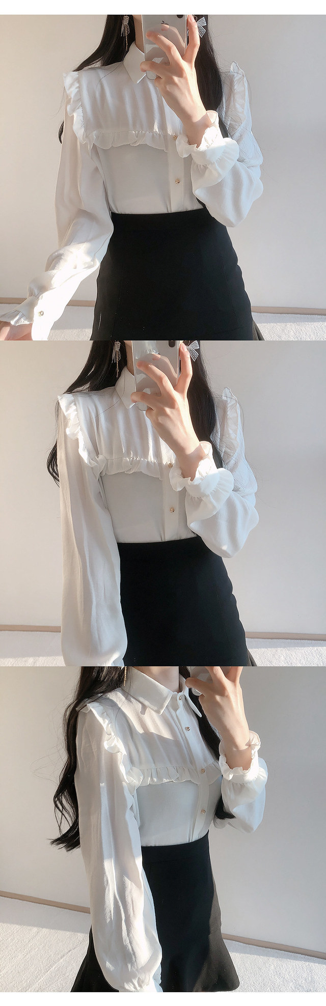 Merci frilly ribbon blouse