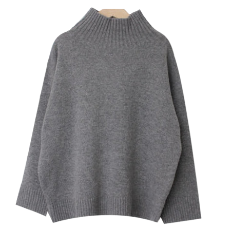 Melody-Wool Turtle Knit