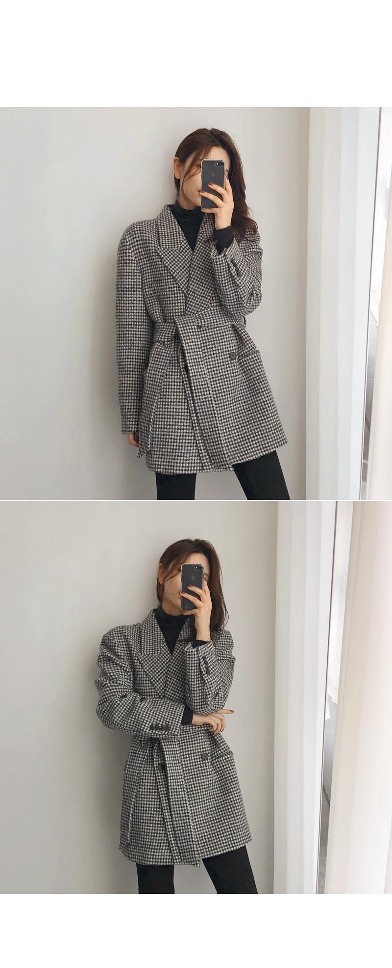 Bain wool check coat