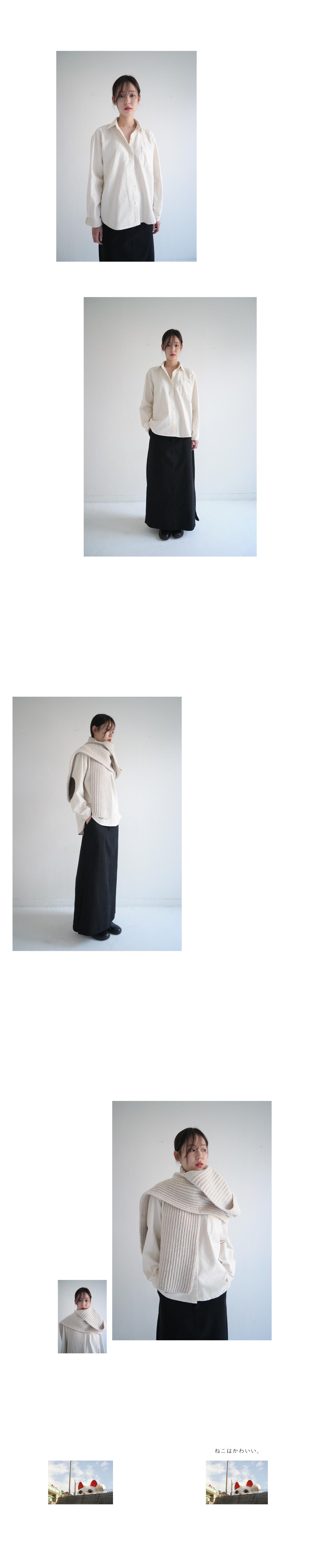 cotton A-line long skirt (2colors)