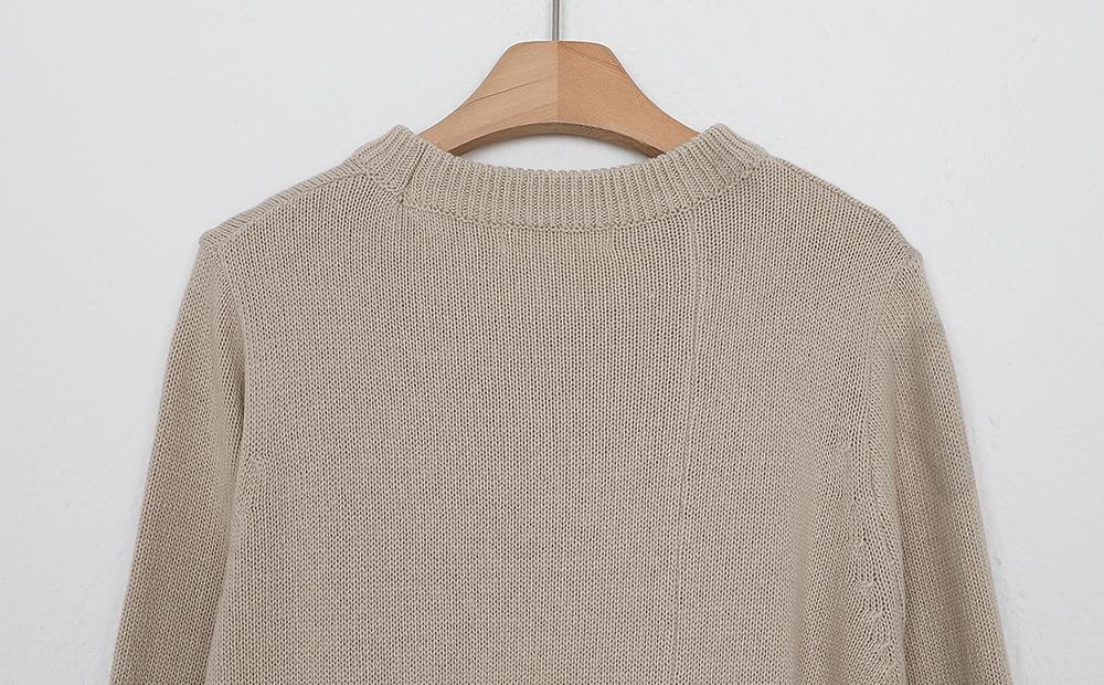 unbal belt knit one-piece (3colors)
