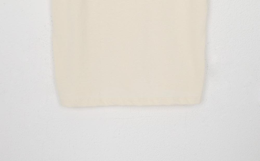 half cream tee (4colors)