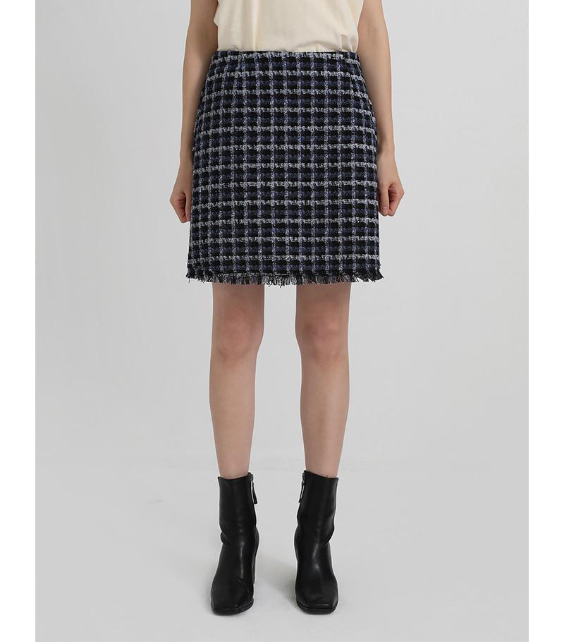 color tweed mini skirt (2colors)
