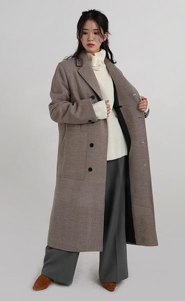 herringbone waffle coat (2colors)