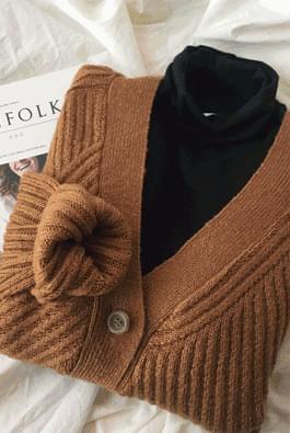 Weave knit cardigan