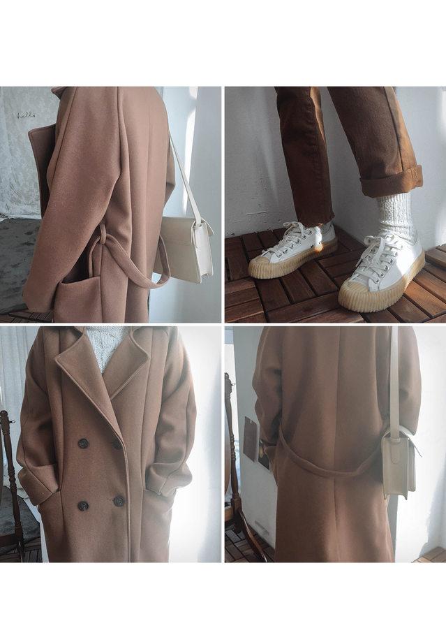 Double jay long coat