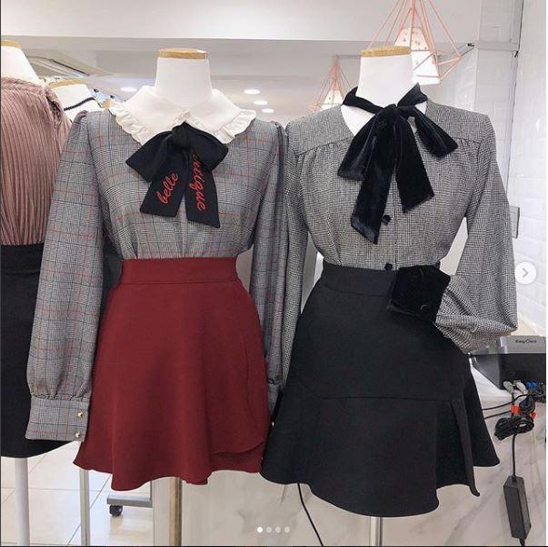 Hound velvet ribbon blouse