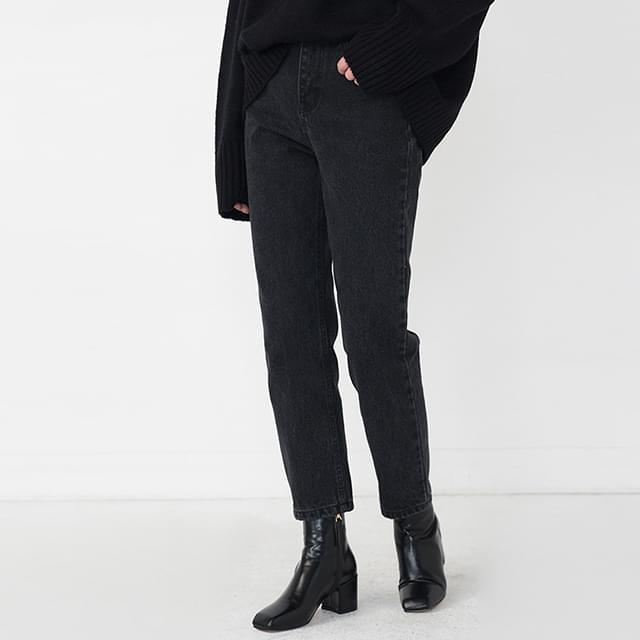 vintage straight black jean