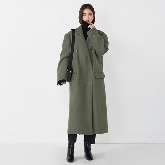 real over fit wool coat