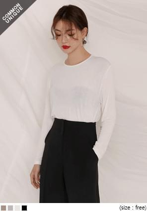 韓國空運 - 基本色長袖素面T恤 長袖上衣