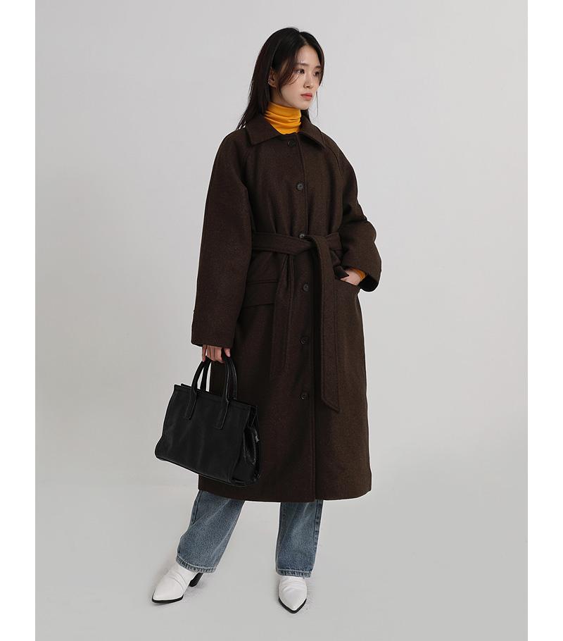 raglan single boxy coat (2colors)