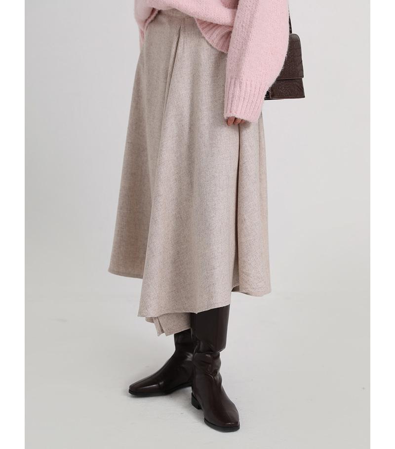 unbal hoola wool skirt (2colors)