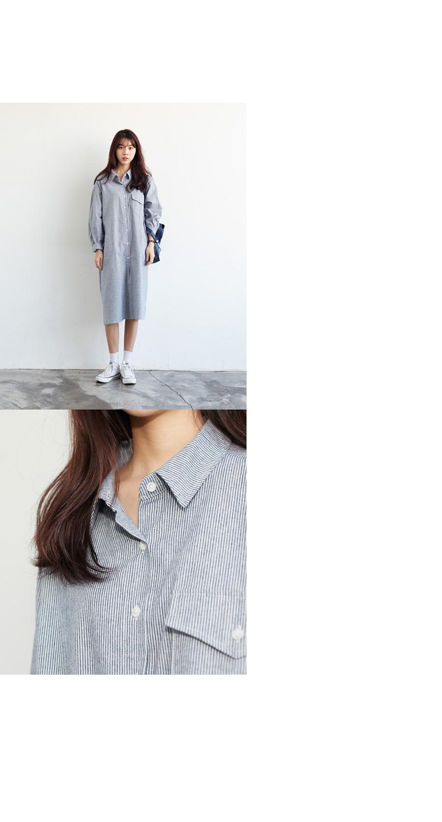 Pick stripe shirts ops_YK (size : free)