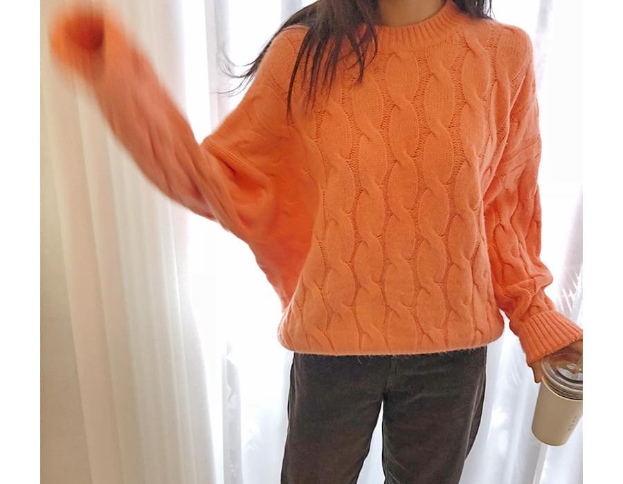 Twist round wool knit_B (울 50%) (size : free)