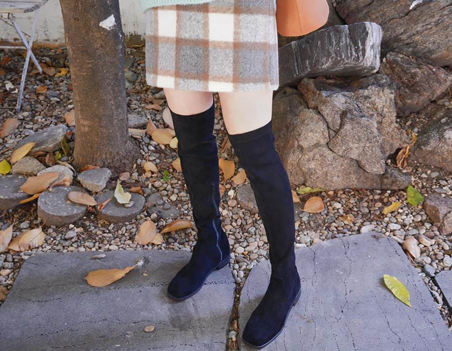 Chess A-line check skirt_H (size : S,M)