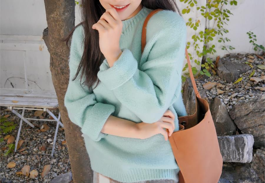 Cozy over round knit_H (size : free)