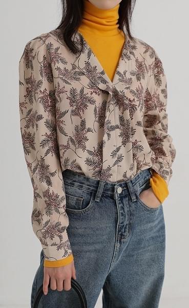 leaf ruffle blouse (4colors)