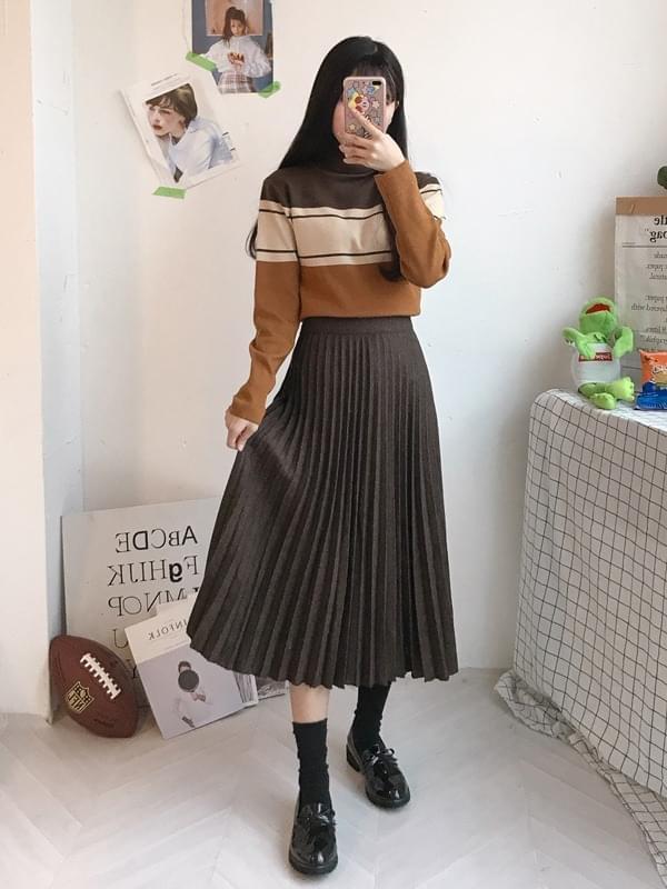 Herringbone Long Piano Skirt