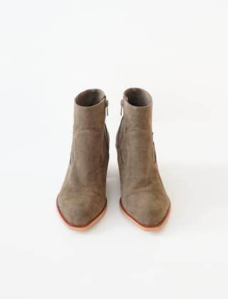 wood sole ankle boots (3colors)