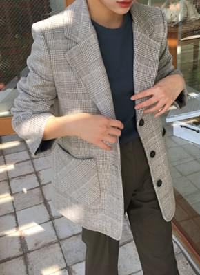 Soho wool check jacket