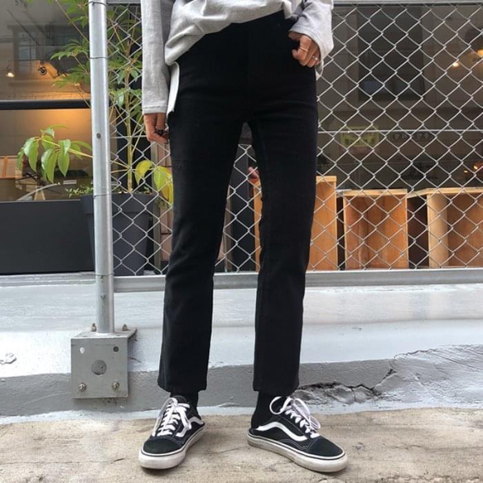 Mild corduroy straight pants