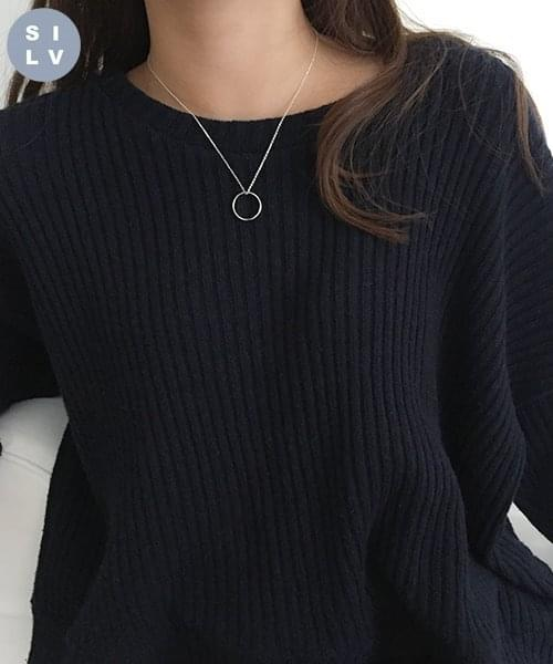 (silver925) ring necklace