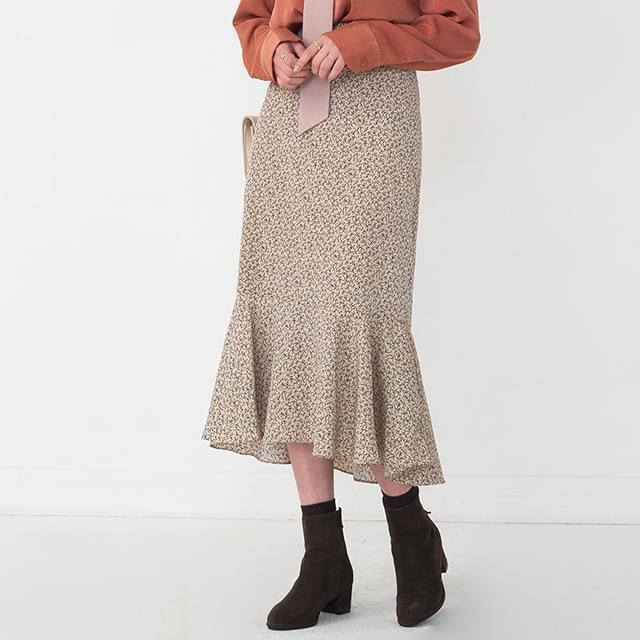romantic flare detail skirt