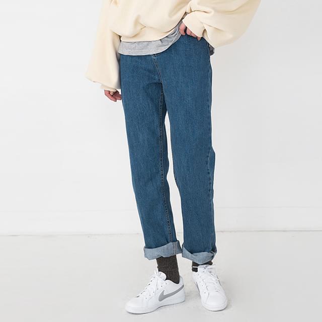 daily cotton denim pants