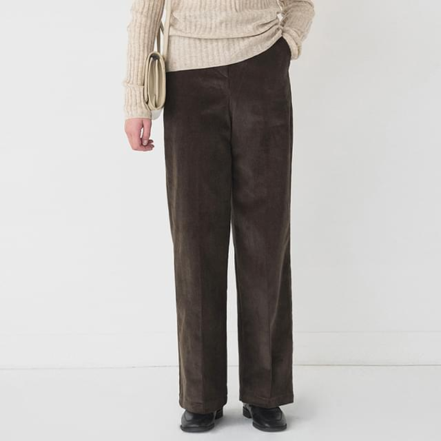 casual maxi corduroy pants