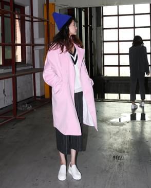 LB_cashmere over-fit coat