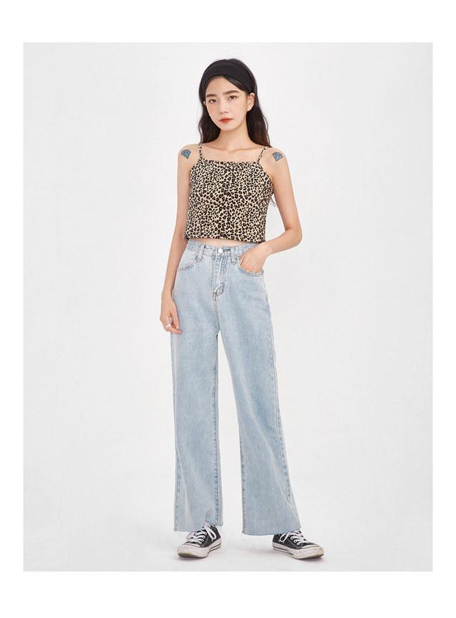 wing straight denim pants (s, m, l)