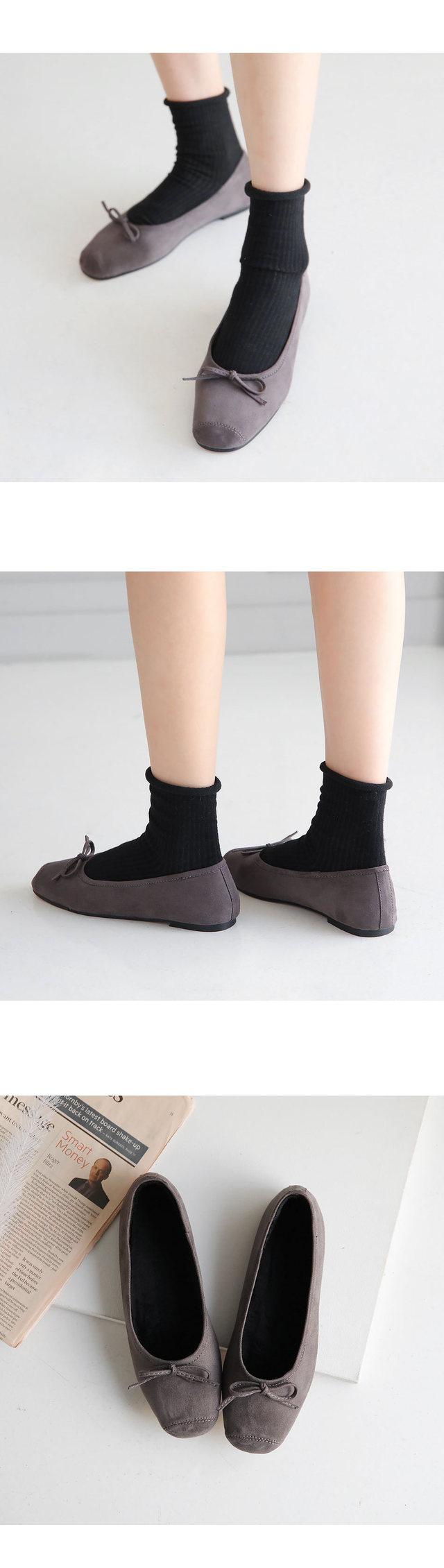 Haemonfur flat shoes 1cm