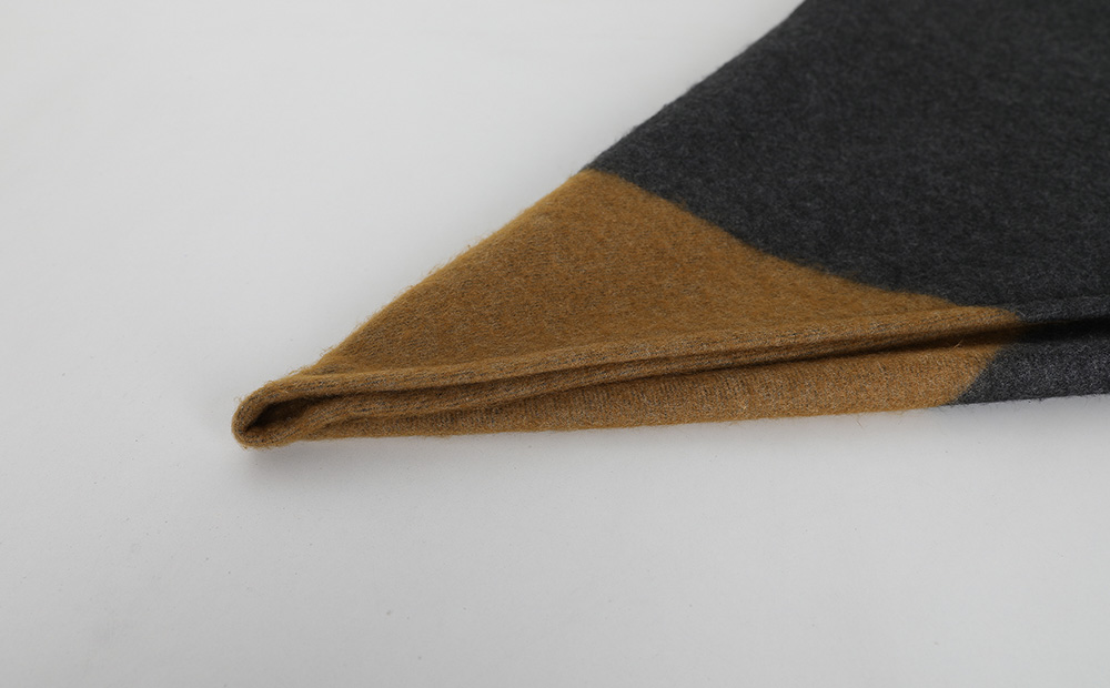 two color triangle muffler