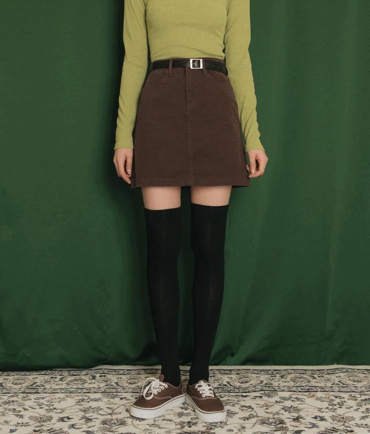 521 suede skirt