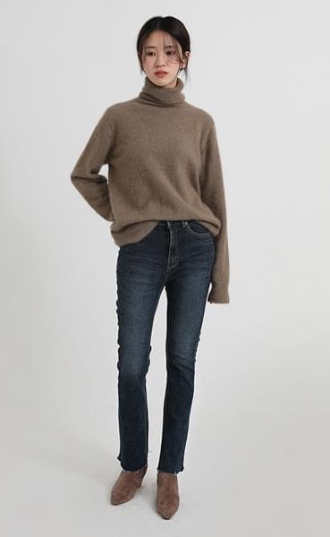 dry boots-cut denim pants