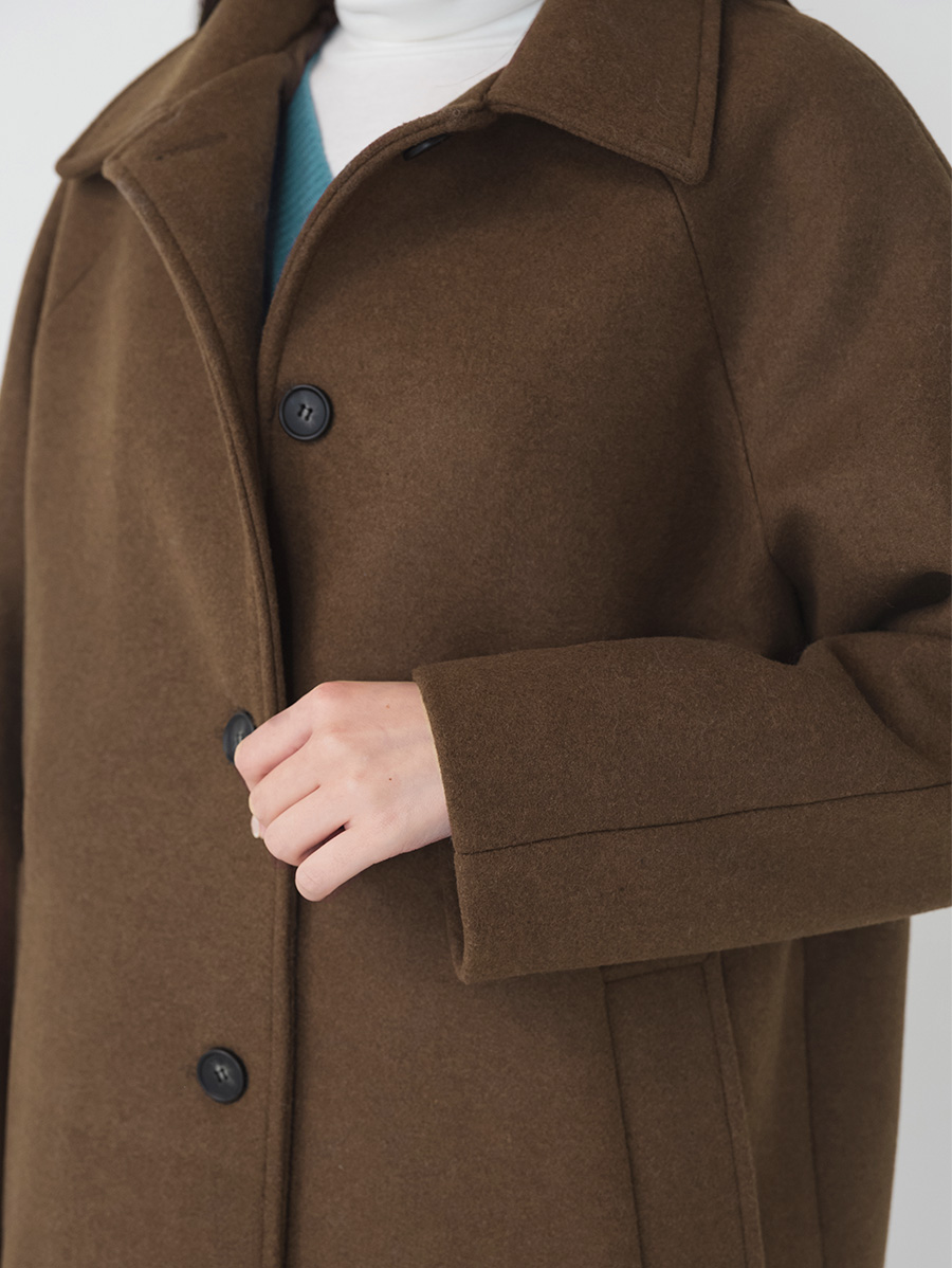 slit detail wool single coat