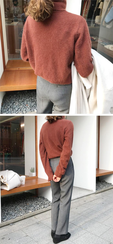 Soft raccoon turtle knit_H (라쿤 70%) (size : free)
