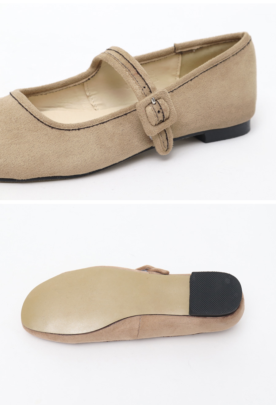 Soft suede mary-jane shoes_H (size : 225,230,235,240,245,250)