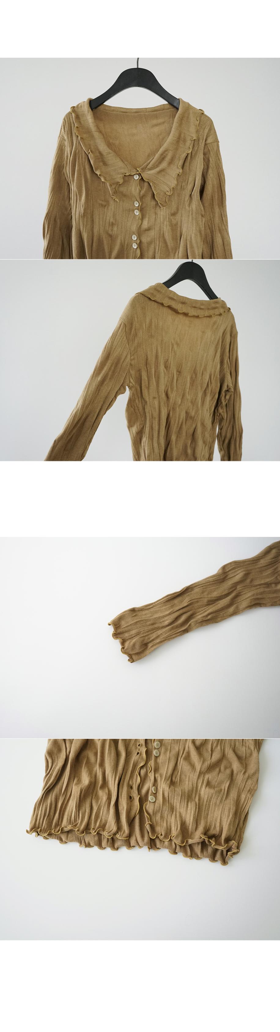 crease texture collar cardigan (3colors)