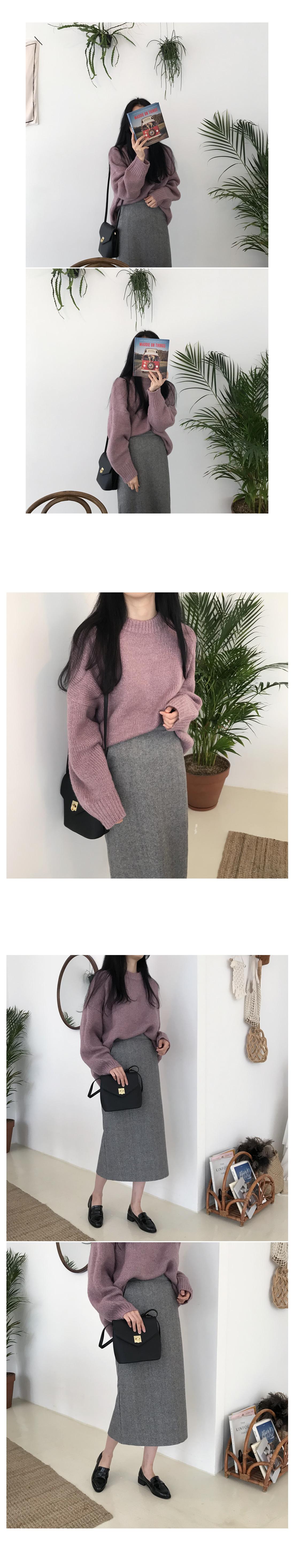 Miller Herringbone Long Skirt