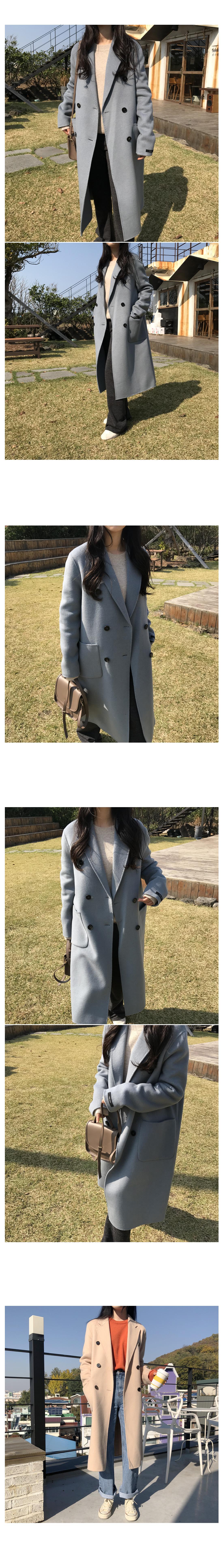 Egg double long handmade coat