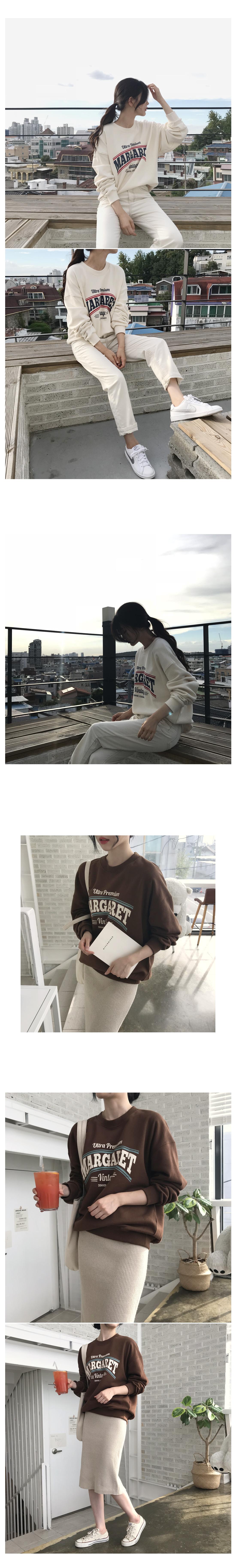 Margaret Man-To-Man T-Shirt - Both Brushed Brown Ships same day