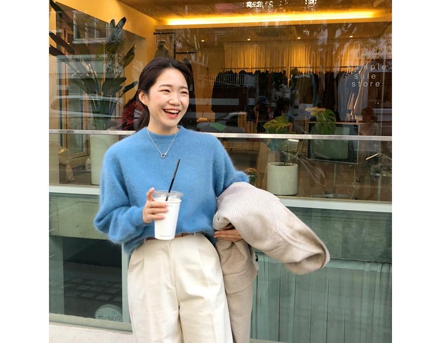 Ordinary round angora knit_M (앙고라 40%) (size : free)