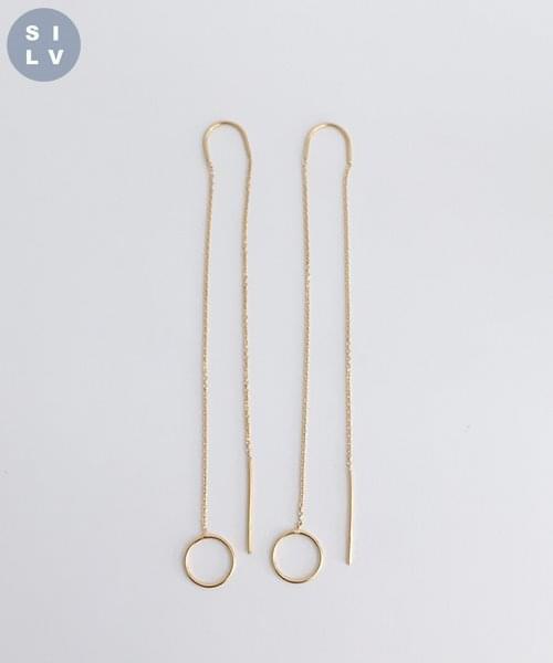 (silver925) long drop earring